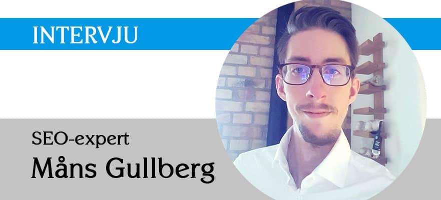 SEO expert Måns Gullberg